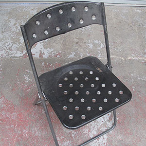 Collapsing Folding Chair - theatrical props hire