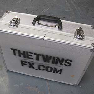 Light and Heavy case - theatrical props hire