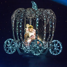 Cinderella's Flying Coach - flying stage props for pantomimes
