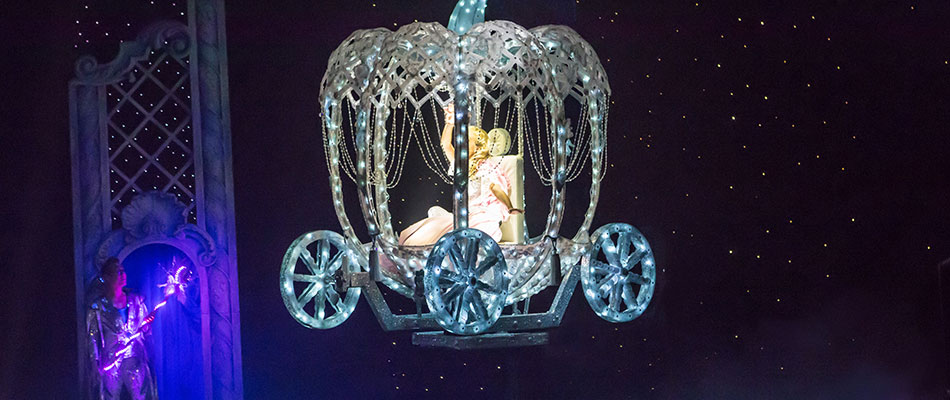 Cinderella Flying Coach - Theatre Magic and Illusion Hire