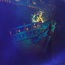 Galleon - flying stage prop