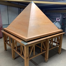Gods and Kings Table Pyramid - stage props for hire